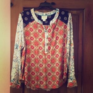 Anthropologie multi colored blouse